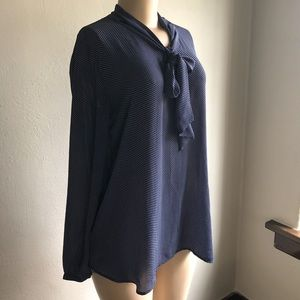 LOFT Maternity | Long Sleeve Pussy Bow Blouse